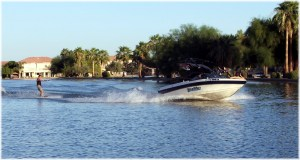 Wake boarding at Playa 2