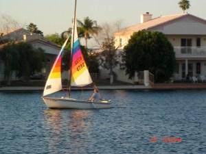 Sailing In Desert Harbor Lake