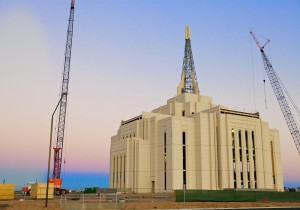 Gilbert Temple under construction