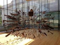 funky installation in the glass gallery