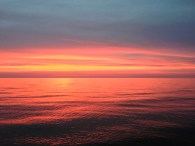 beautiful sunset on Friday