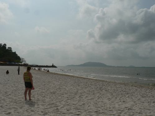 Some respite at Kep beach on Monday morning