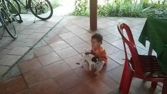 Homestay token grandkid and puppy