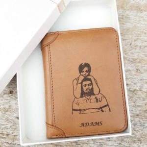 Men's Custom Engraved Photo Wallet