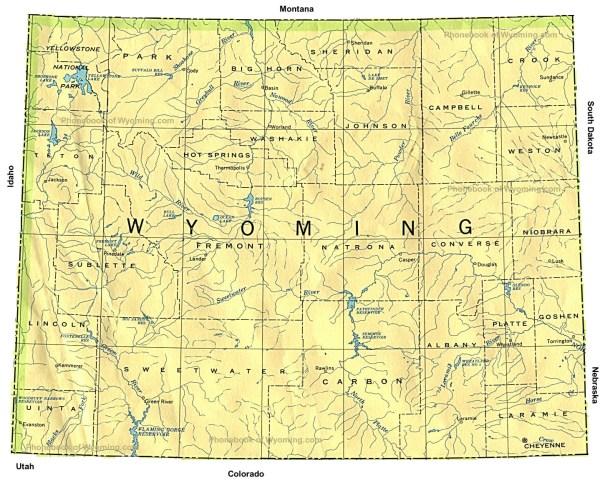 map of wyoming usa bnhspinecom