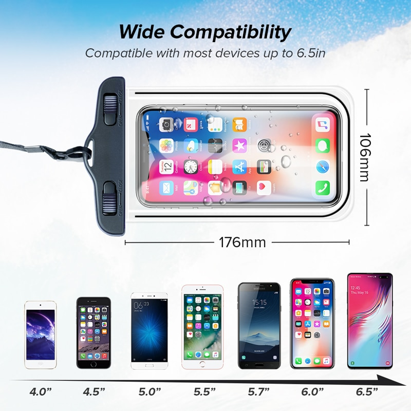 INIU IP68 Universal Waterproof Phone Case Water Proof Bag Mobile Cover For iPhone 12 11 Pro Max 8 7 POCO x3 Xiaomi Redmi Samsung