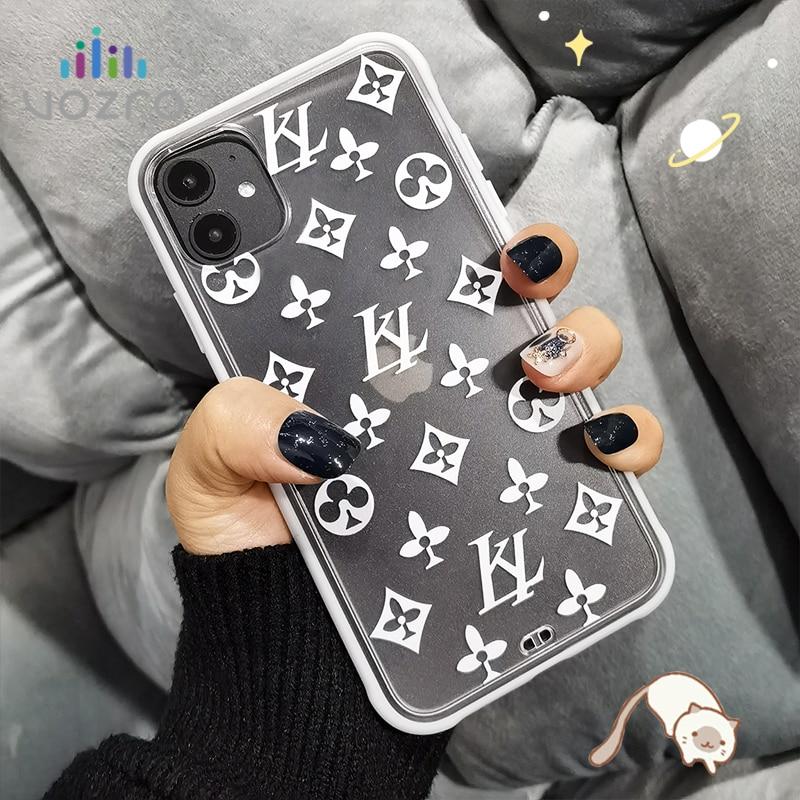 For IPhone 11 12 Pro Max 12 Mini 6 6s 7 8 Plus X XR XS Max SE 2020 Cover Fashion Luxury Brand Logo Original Design Case