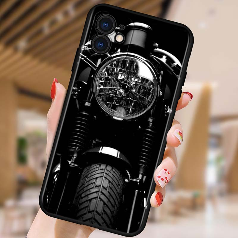 Silicone Cover Motorcycle Cars Man For Apple IPhone 12 Mini 11 Pro XS MAX XR X 8 7 6S 6 Plus 5S SE Phone Case