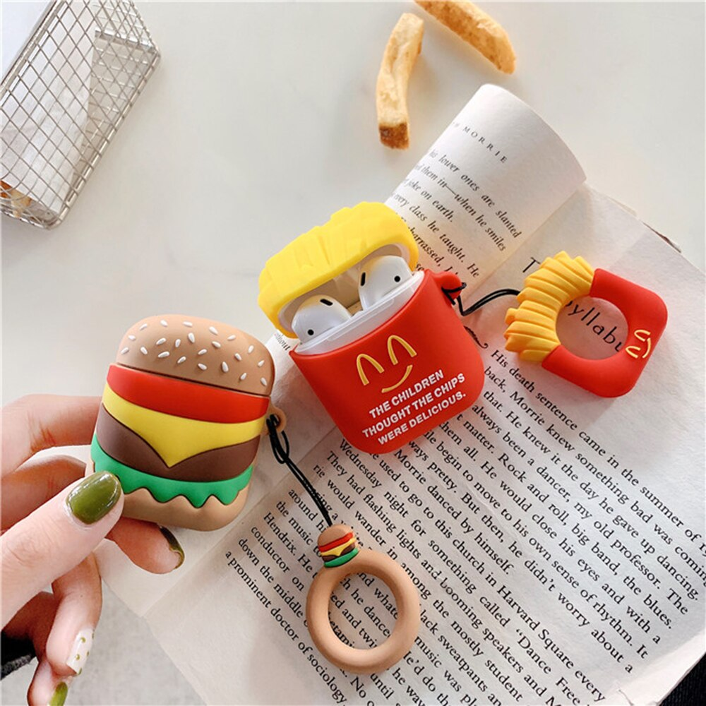 for 3D Cartoon cure Earphone Cases for irPods Wireless bluetooth headset Case Accessories Protect Cover with Finger Ring Strap