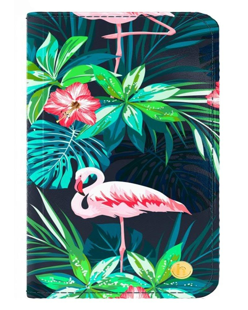 Fodral, Skydd, Väska, Skal - Surfplatta - Universal - Flamingo Bloom