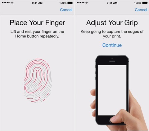 Apple Touch ID Setup