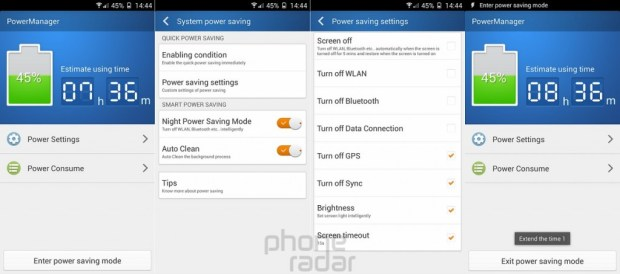 Gionee Elife E7 Power Manager