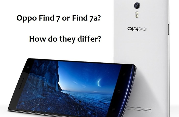Oppo Find 7 vs 7a