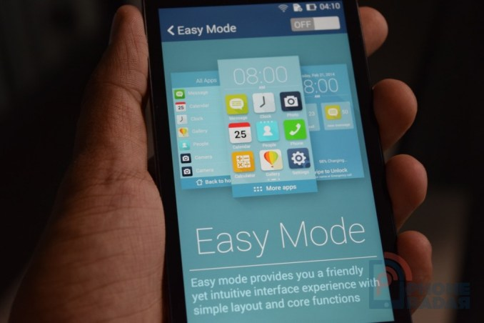 Asus Zenfone 5 Tip Easy Mode