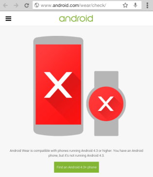 How to check if smartphone is compatible with android wear