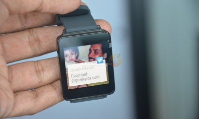 LG G Watch Hands-on notification