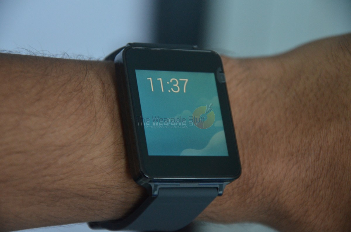 LG G Watch Android Wear SmartWatch Hands-on, Initial ...