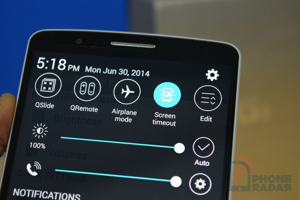LG G3 Tip Quick Settings