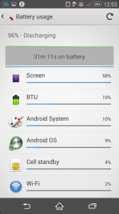 Xperia Z2 battery with browsing 1