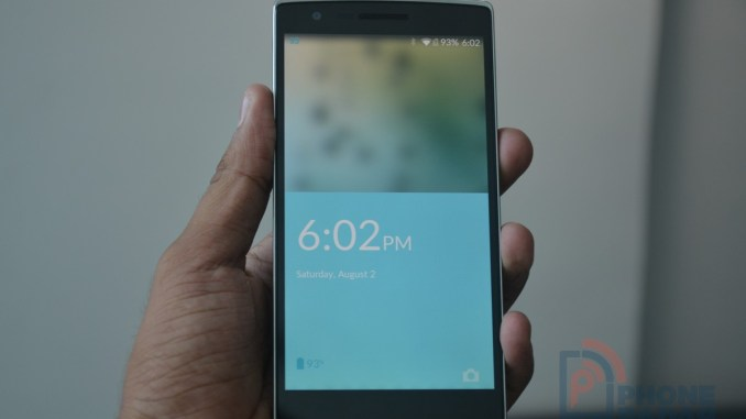 OnePlus One Sandstone Black Front