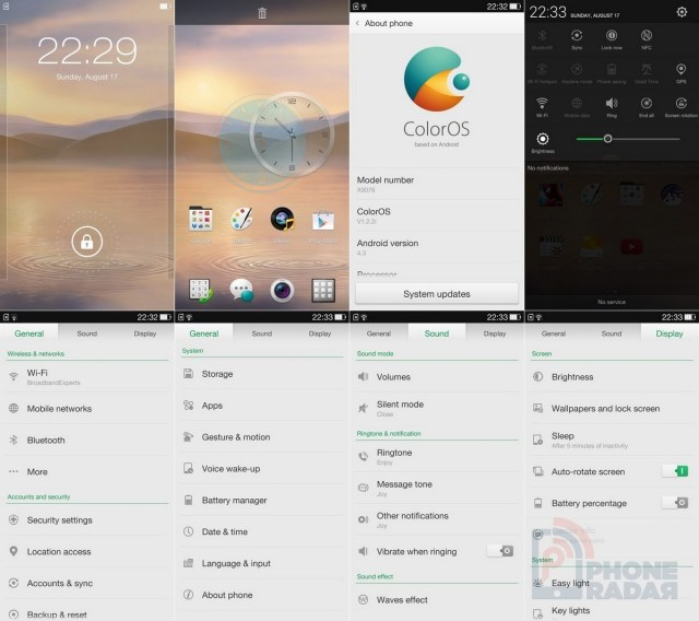Oppo Find 7 interface 1