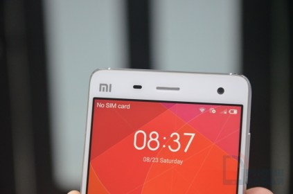 Xiaomi Mi4 Hands-on Front Top