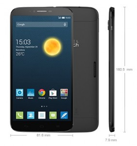 Alcatel OneTouch Hero 2 Dimensions
