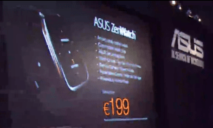 Asus ZenWatch Priced at Euro 199