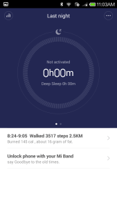 Mi Band App - Automatic Sleep Mode