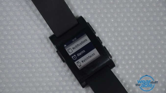 Setup Alarm on Pebble Smartwatch