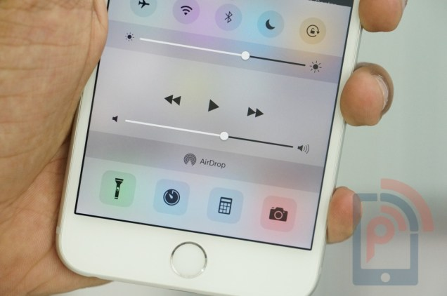 Apple iPhone 6 Plus Control Center