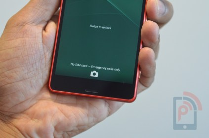 Sony Xperia Z3 Compact Front Bottom