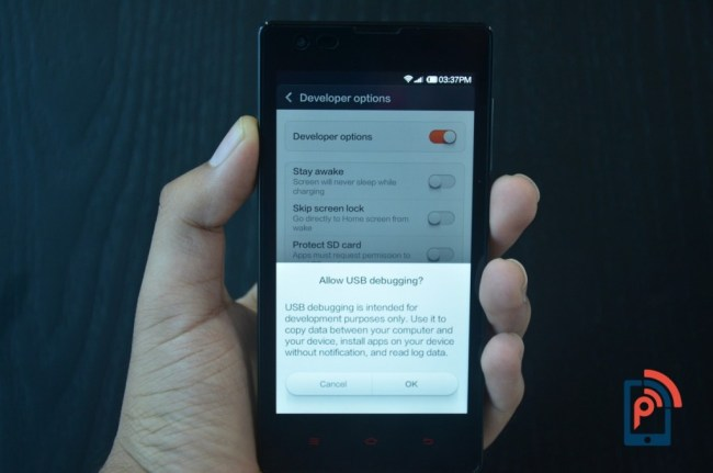 Xiaomi Redmi 1S - Developer Options