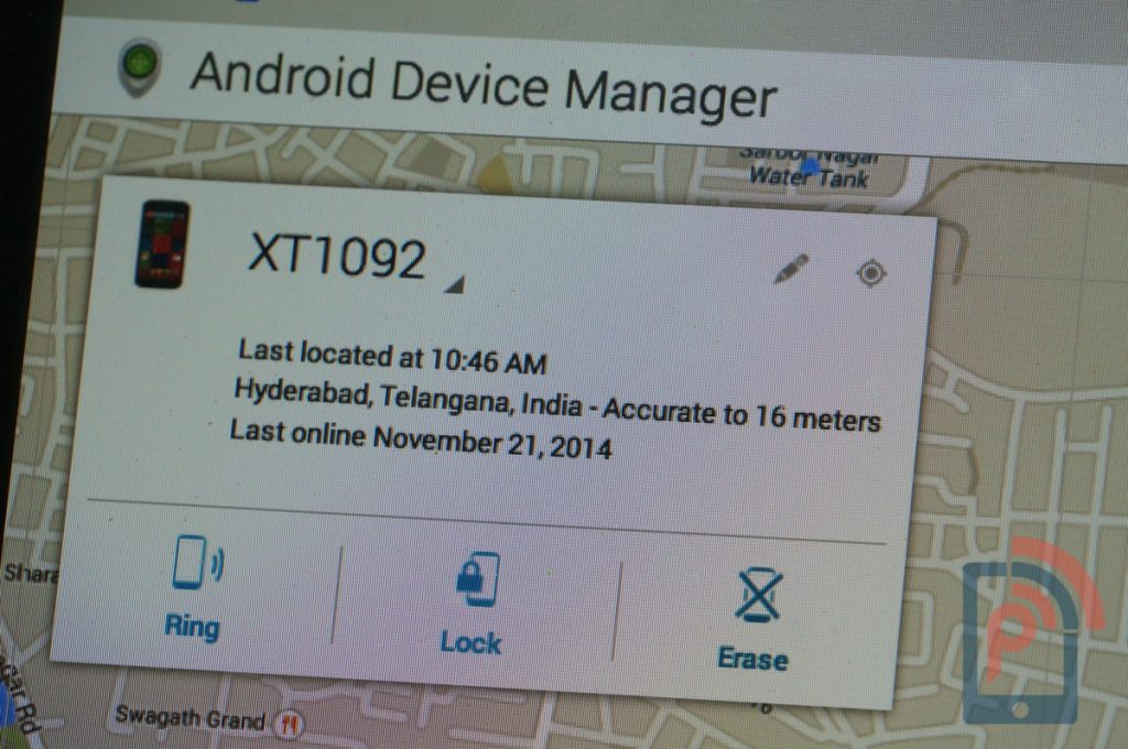 Android Device Manager Location