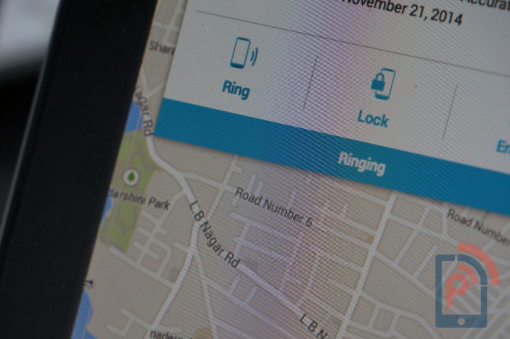 Android Device Manager Ring