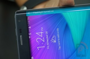 Samsung Galaxy Note Edge Screen Functions