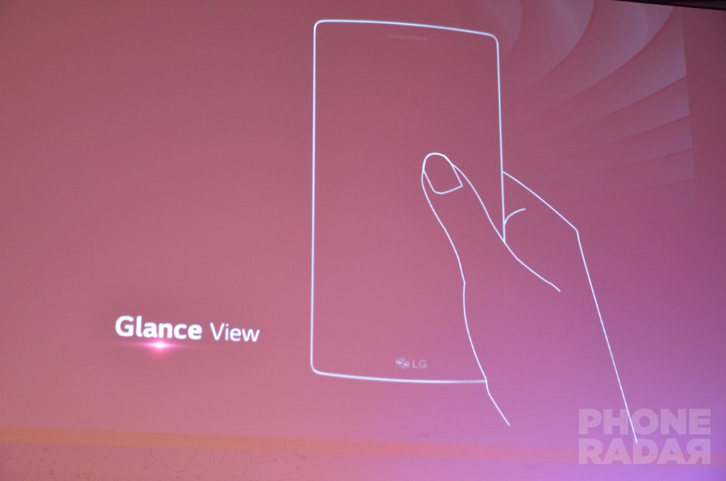 Glance View feature on the G Flex 2.