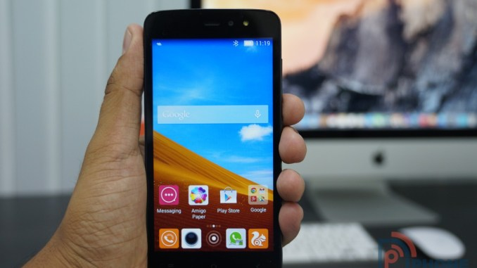 Gionee Pioneer P6 Front