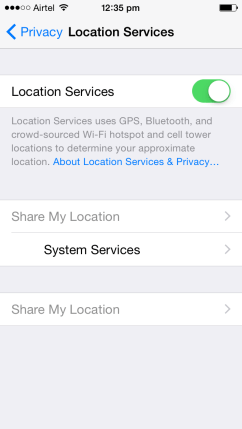 Turn OFF Location Monitoring (2)