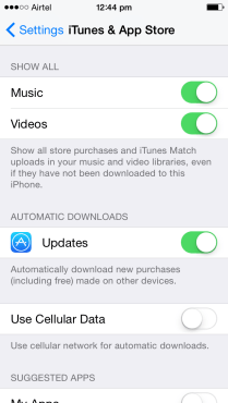 iPhone - Stop Automatic App Updates (1)