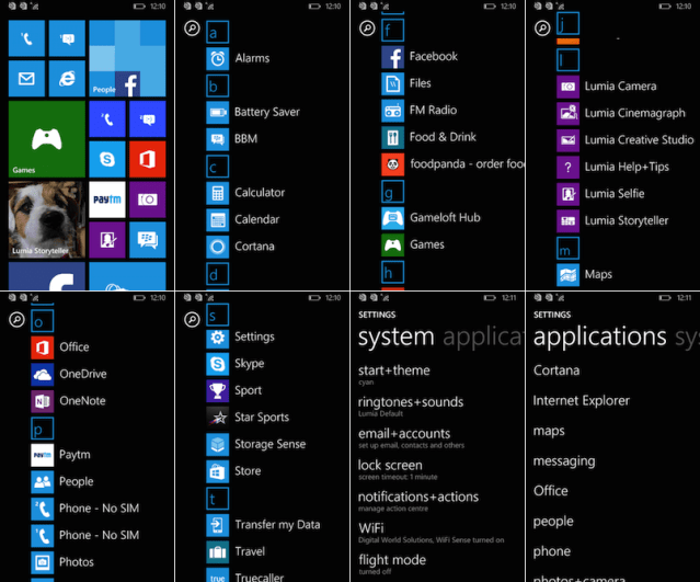 Microsoft Lumia 532 Interface