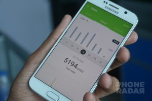 Samsung Galaxy S6 S Health Steps