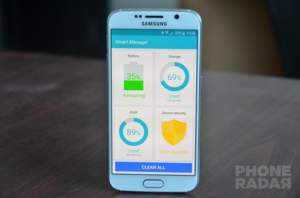 Smart Manager App in Galaxy S6