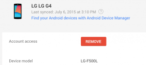 Remove Android Device Manager