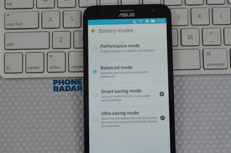Asus Zenfone laser Power saving mode