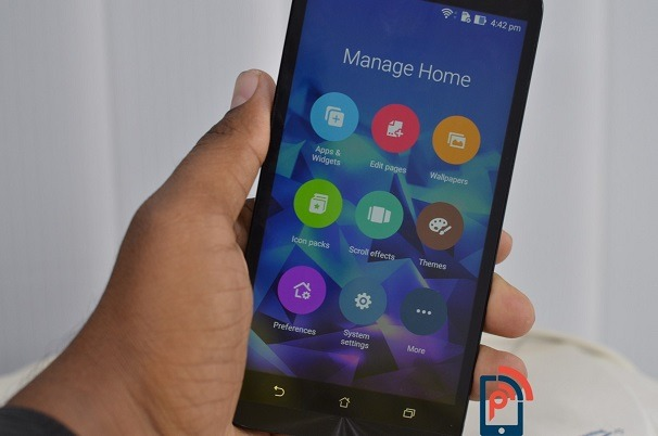Asus Zenfone2 delux manage home