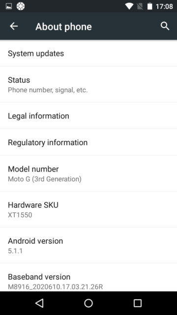 Moto G Third Generation - Android Updates