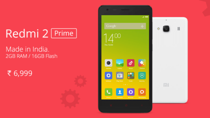 xiaomi redmi 2 prime, made in india 1