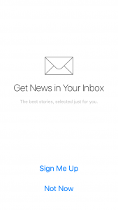 Apple News App Inbox