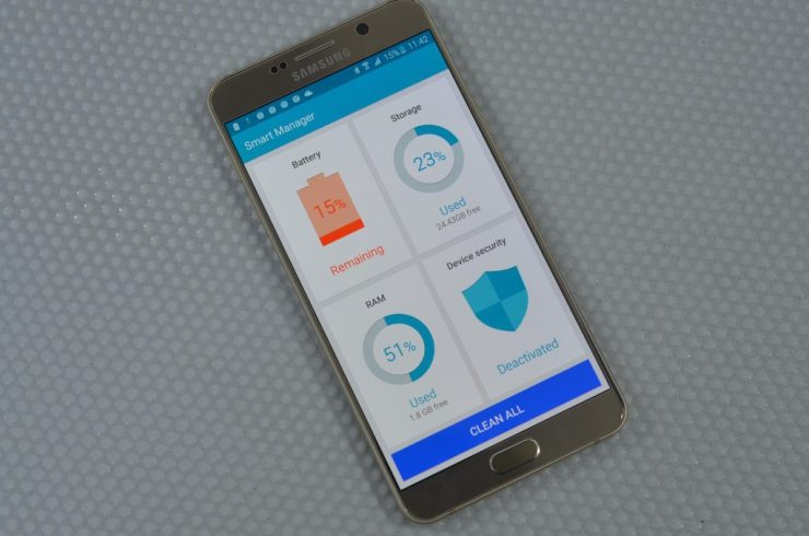 Samsung galaxy note 5 smart manager